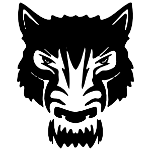 Grumpy Wolf Face Sticker