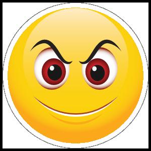 Cute Evil Smile Emoji Sticker