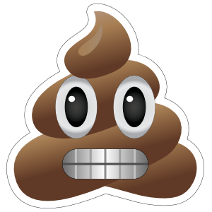 Grimacing Poop Emoji Sticker