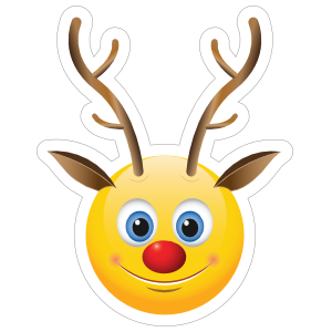 Cute Reindeer Emoji Sticker