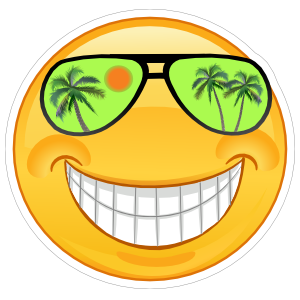 Crazy Cool Green Sunglasses Smiling Emoji Sticker