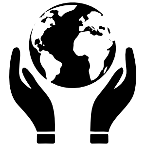 Recycle Hands Holding The Earth Sticker