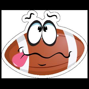Silly Cartoon Football Sticker