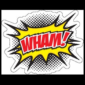 Wham Comic Sticker
