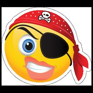 Cute Pirate Angry Female Emoji Sticker