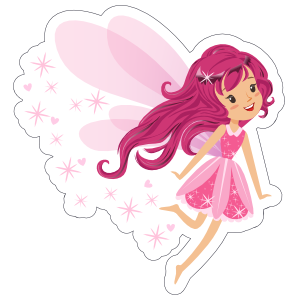 Pink Fairy with Pixie Dust Sticker