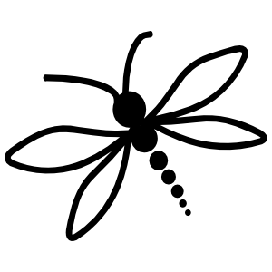 Adorable Baby Dragonfly Sticker