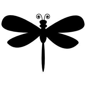 Dragonfly Silhouette Sticker