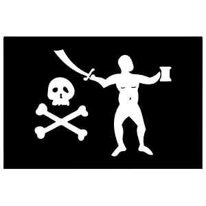Pirate Flag With Naked Pirate Sticker