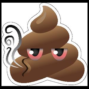 Gettin' High Poop Emoji Sticker
