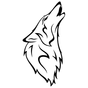 Wolf Coyote Sticker