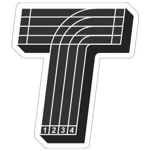 Running Track T Sticker