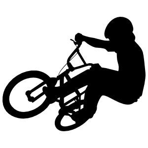 Bmx Bicyclist On Bike Sticker
