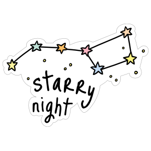 Starry Night Camping Sticker