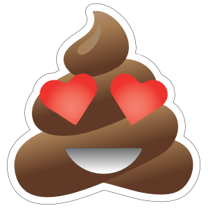 In Love Poop Emoji Sticker