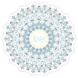 Pastel Kappa Alpha Theta Mandala Sticker