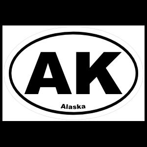 Alaska Ak Oval Magnet