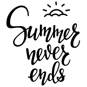 Summer Never Ends Sticker