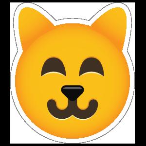 Phone Emoji Sticker Cat