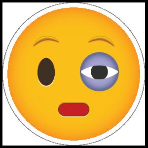 Phone Emoji Sticker Black Eye