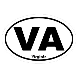 Virginia Va Oval Sticker