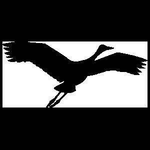 Crane Flying Sticker