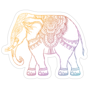 Colorful Elephant Boho Sticker