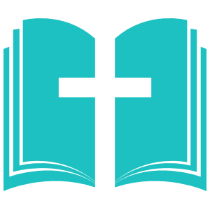 Open Bible with Cross in the Middle Transfer Sticker
