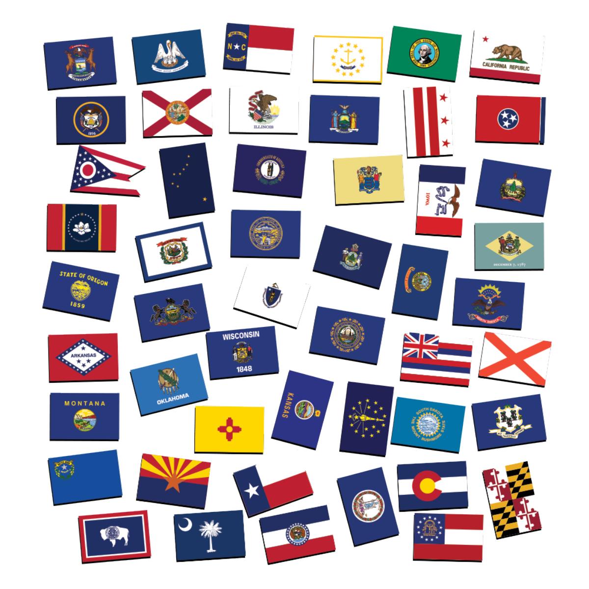 50 USA State Flag Magnet - 50 Piece Bundle
