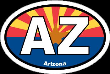 Arizona Az State Flag Oval Sticker