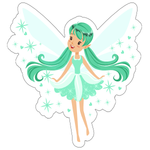 Teal Fairy with Pixie Dust Sticker