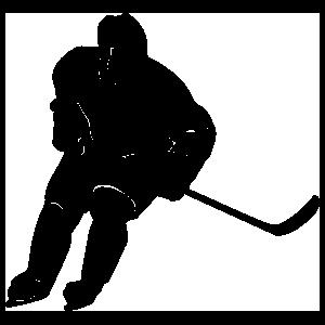 Male Hockey Player Sticker