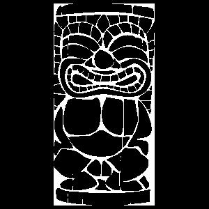 Tiki Statue Sticker