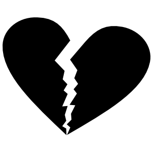 Unhappy Broken Heart Sticker