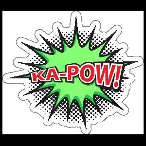 Ka Pow Comic Sticker