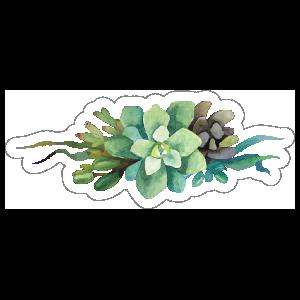 Watercolor Succulent Bouquet Sticker