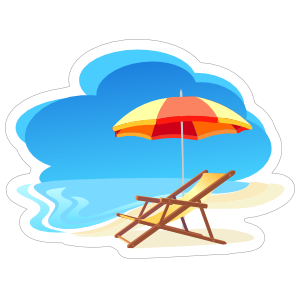 Relax on The Beach Sticker