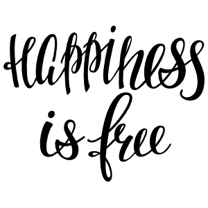 Happiness Is Free Sticker