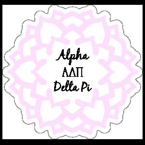 Pink Alpha Delta Pi Mandala Sticker