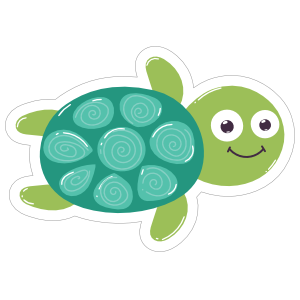 Adorable Turtle Sticker