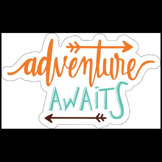 Adventure Awaits Text Sticker