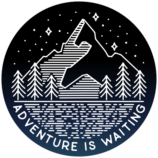 Adventure Is Waiting Circle Sticker