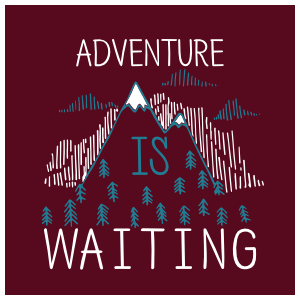 Adventure Is Waiting Square Sticker