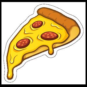 Slice of Pepperoni Pizza Sticker