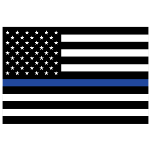 The Thin Blue Line Us Flag Magnet