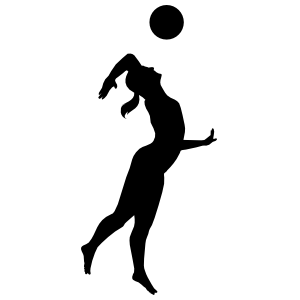 Jumping Volleyball Spike Sticker