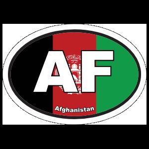 Afghanistan AF Flag Oval Sticker