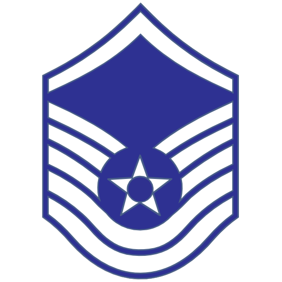Air Force Rank E-7 Master Sergeant  Sticker