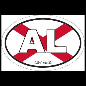 Alabama Al State Flag Oval Magnet