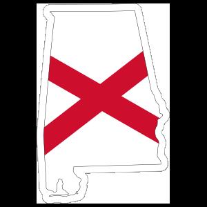 Alabama Flag State Sticker